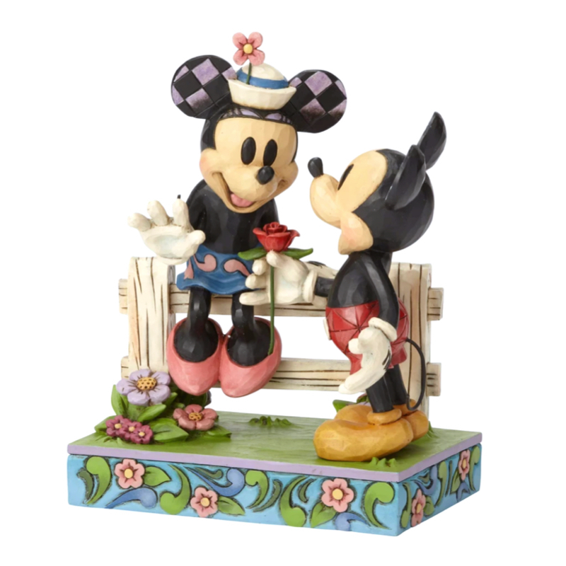 خرید مجسمه های دیزنی Mickey and Minnie by Fence