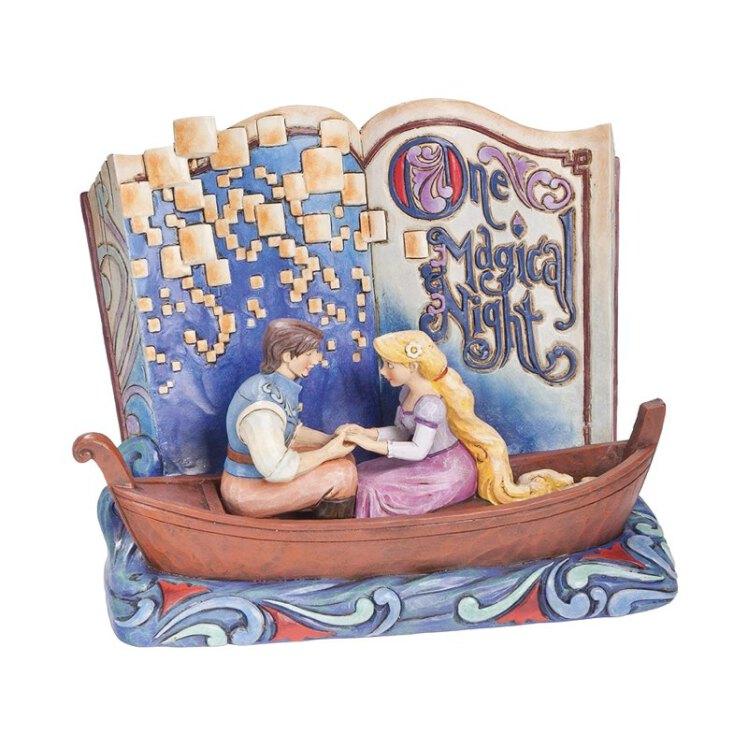 مجسمه storybook گیسو کمند جیم شور   راپونزل و یوجین در قایق