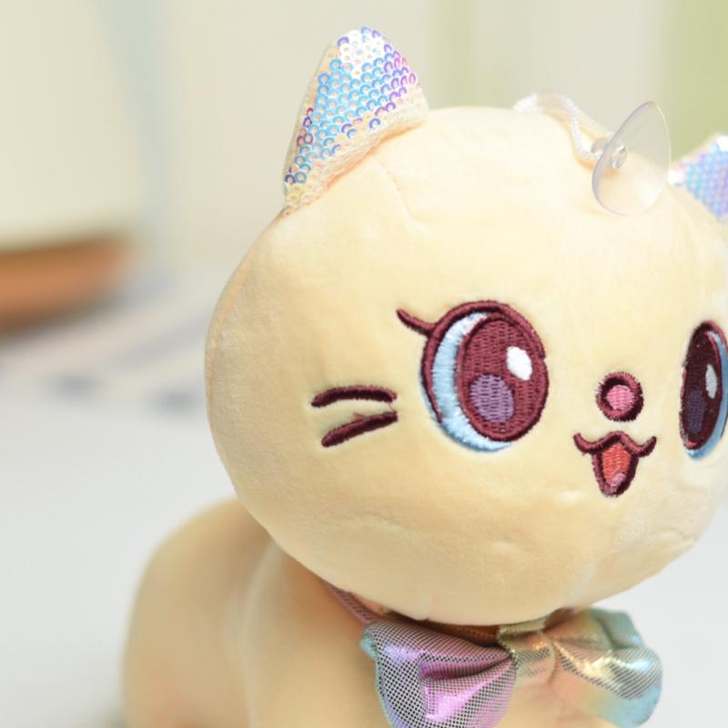 خرید عروسک پلاش گربه با پاپیون