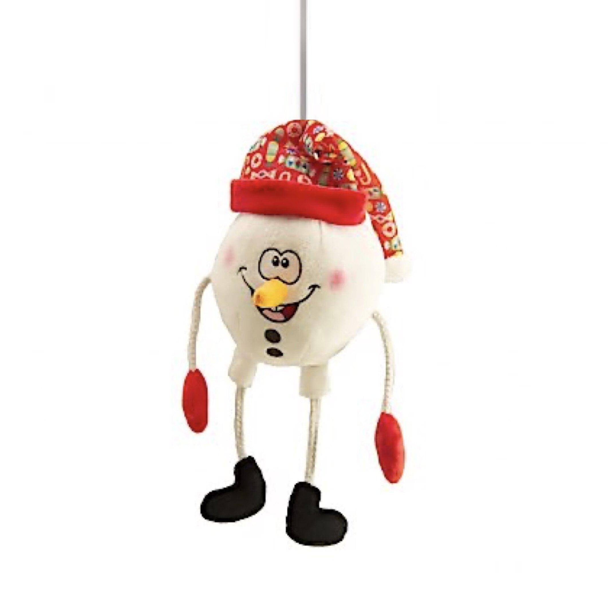 عروسک پولیشی آدم برفی فنری