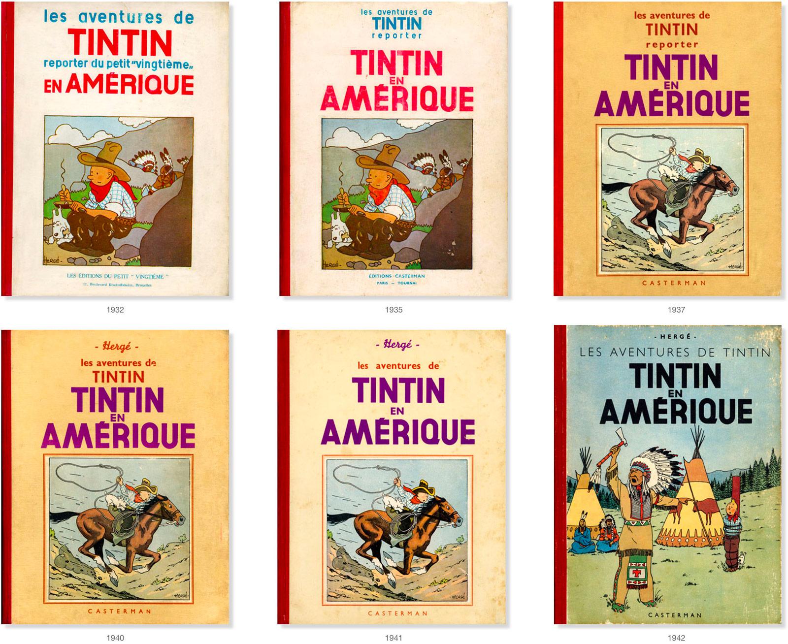 کتاب های قدیمی تن تن در آمریکا
