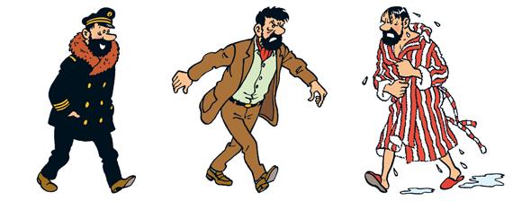 کاپیتان هادوک در لباس های مختلف