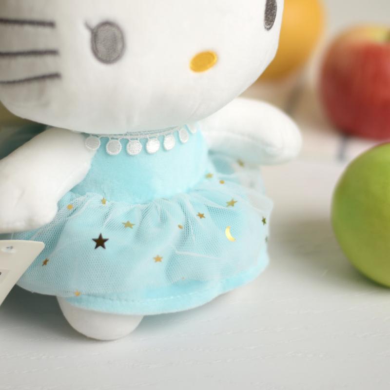 عروسک کیتی با لباس ماه و ستاره آبی