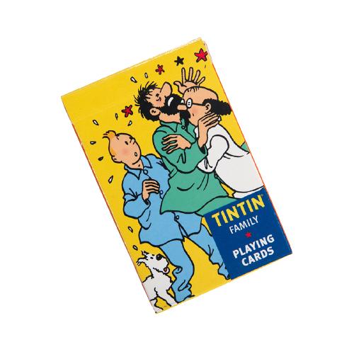 کارت بازی تن تن tintin playing cards character theme yellow pack