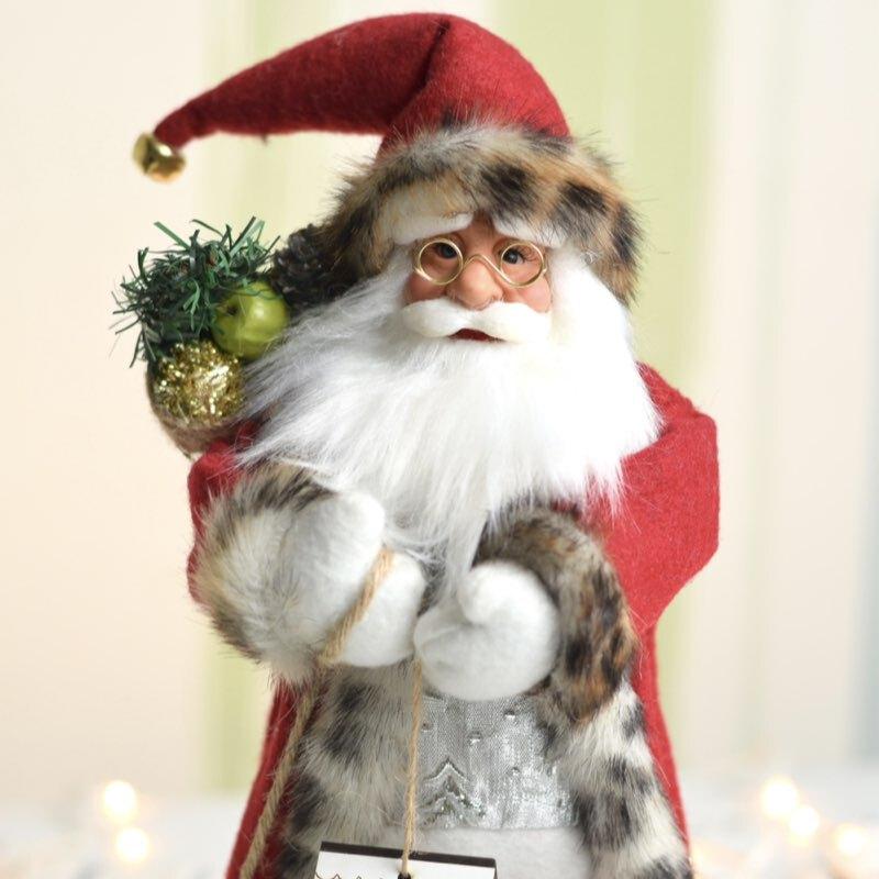 عروسک بابا نوئل با لباس پارچه ای