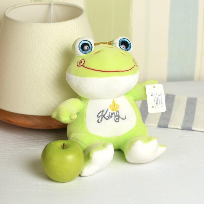 خرید عروسک قورباغه سبز تاج دار