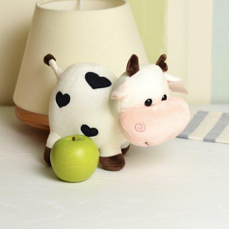 خرید عروسک گاو قلب دار سیاه و سفید
