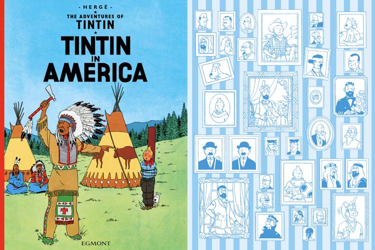 عکس جلد کتاب تن تن در آمریکا