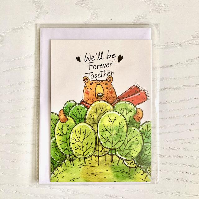 کارت پستال فانتزی خرس