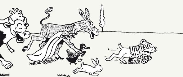 حیوانات در داستان های تن تن