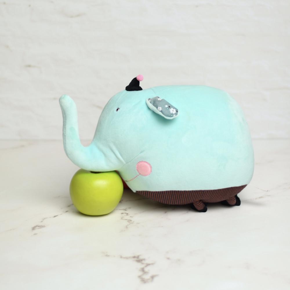 خرید عروسک پولیشی فیل آبی