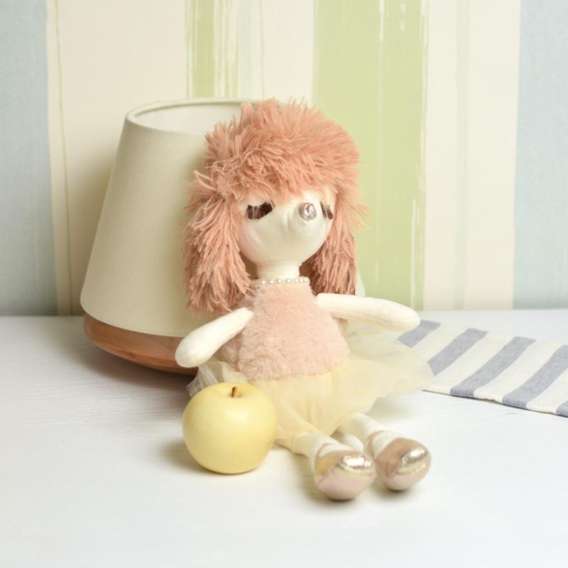 خرید عروسک سگ اشرافی طلایی